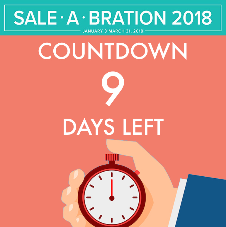 Sale-A-Bration Countdown - only 9 days left! #stampcandy