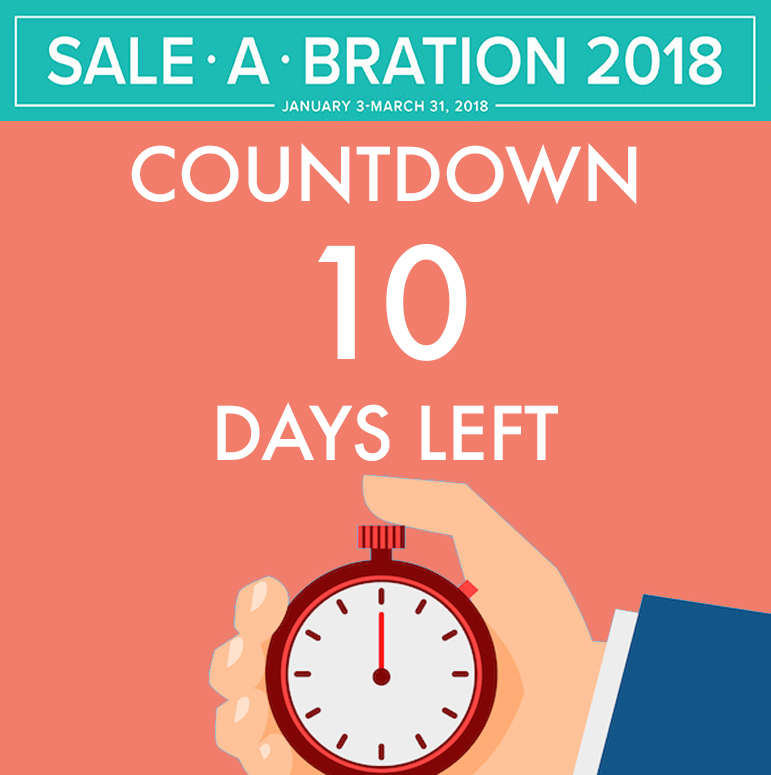 Sale-A-Bration Countdown - only 10 days left! #stampcandy