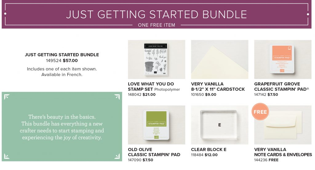 Just Getting Started - Share What You Love early release bundles by Stampin' Up! #stampcandy