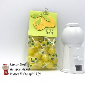 Lemon Zest bundle, Lemon Builder Punch, Tutti-frutti Clips, bag of lemon drops, gift, food, candy,lemons,Life's Short Squeeze it for all it's worth, #stampcandy