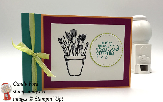 Stampin' Up! Color Book and Watercolor Pencil kit. Great party favor for a kids birthday party. Made by Candy Ford of Stamp Candy