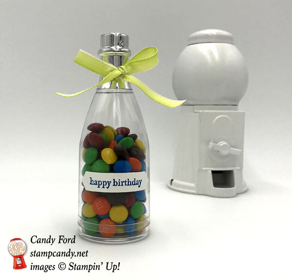 Stampin' Up! Happy Birthday Bottle of M & Ms by Candy Ford of Stamp Candy