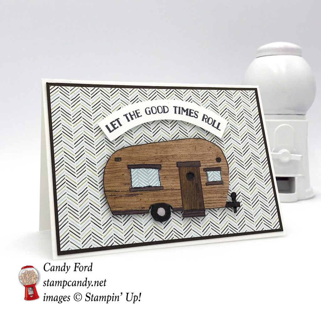 Glamper Greetings and Let the Good Times Roll stamp