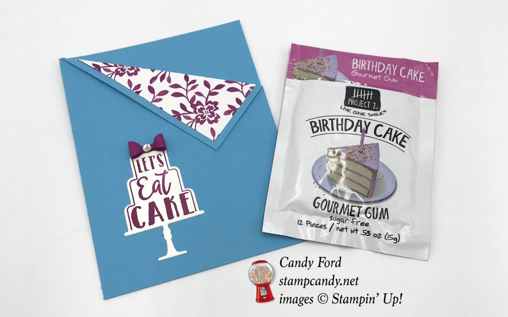Celebration Time bundle birthday cake gum gift, Stampin' Up! #stampcandy