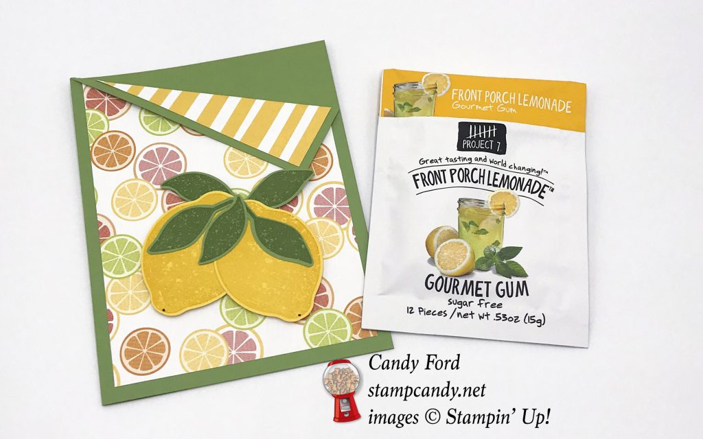 Lemon Zest bundle lemonade gum gift, Stampin' Up! #stampcandy