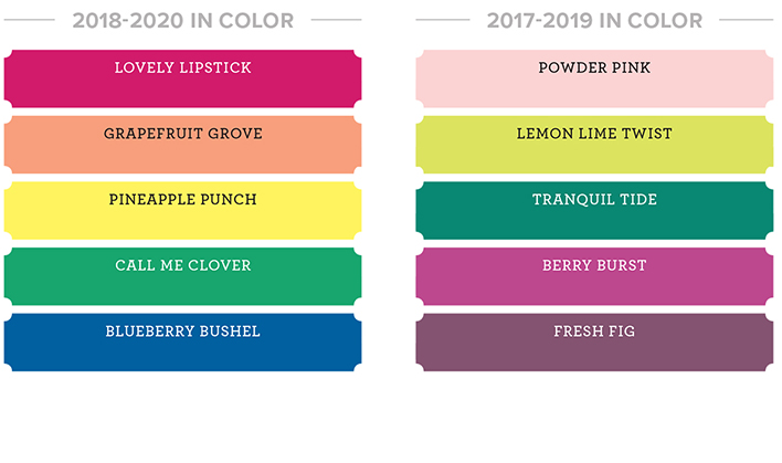 Stampin' Up! in colors, 2018 color revamp, #stampcandy