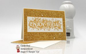 Enjoy Today card made with Big Wishes stamp set and Garden in Bloom Designer Series Paper by Stampin