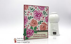 Beautiful floral card sending hugs, made with the Abstract Impressions stamp set and Garden Impressions Designer Series Paper by Stampin