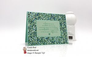 Simple card made with the Statement of My Heart stamp set and Garden Impressions Designer Series Paper by Stampin