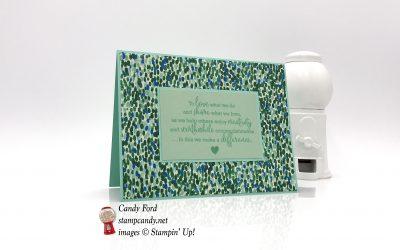 Statement of My Heart Garden Impressions Card