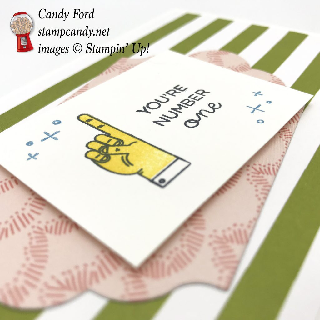 You're Number One card with World's Best Trophy stamp set by Stampin' Up! #stampcandy