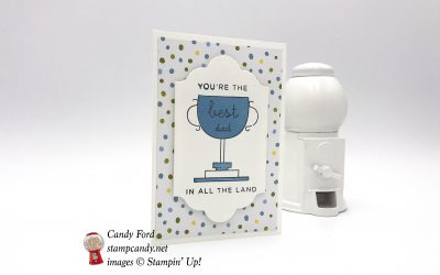 World's Best Trophy Sweet Soiree Card for the Best Dad