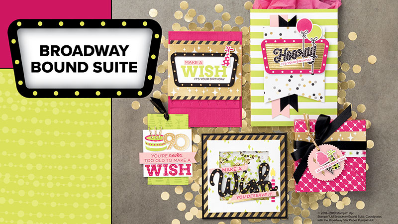 Stampin' Up! Broadway Bound Suite #stampcandy