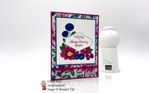Always thinking of you card made with the Accented Blooms stamp set and Garden Impressions paper by Stampin