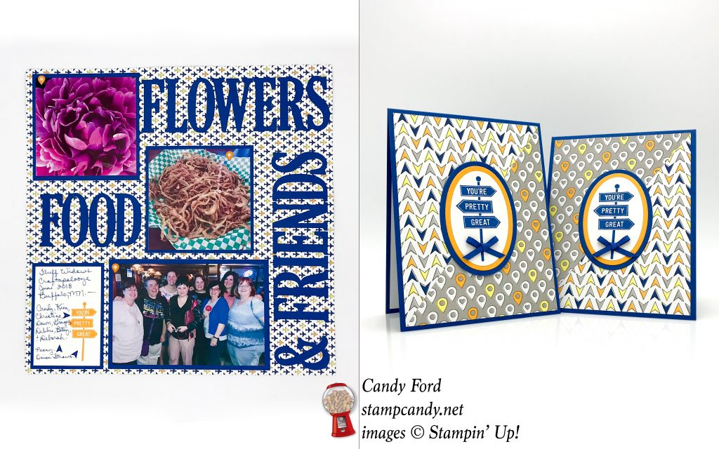 Best Route scrapbook page and cards for the OSAT Blog Hop. Stampin' Up! #stampcandy