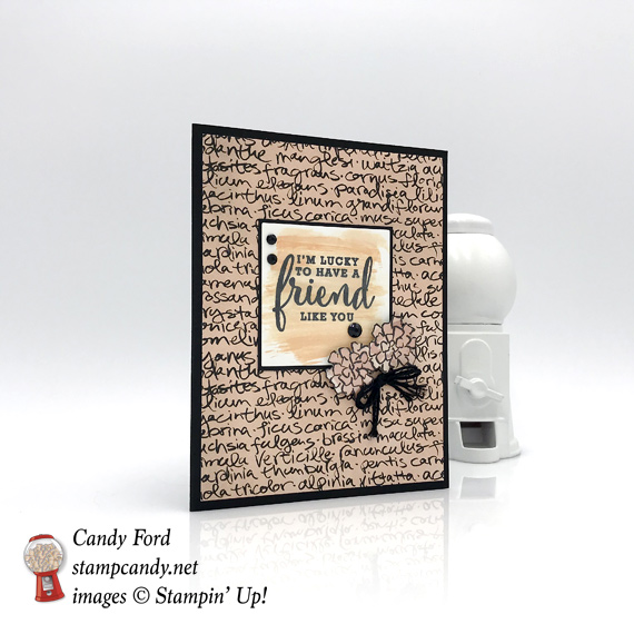 Stampin' Up! Share What You Love Share What You Do handmade friend card by Candy Ford of Stamp Candy