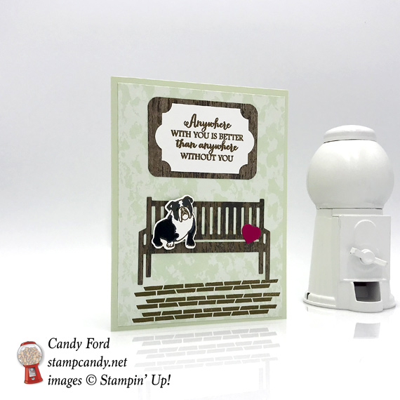 Stampin' Up! Sitting Pretty handmade dog card by Candy Ford of Stamp Candy