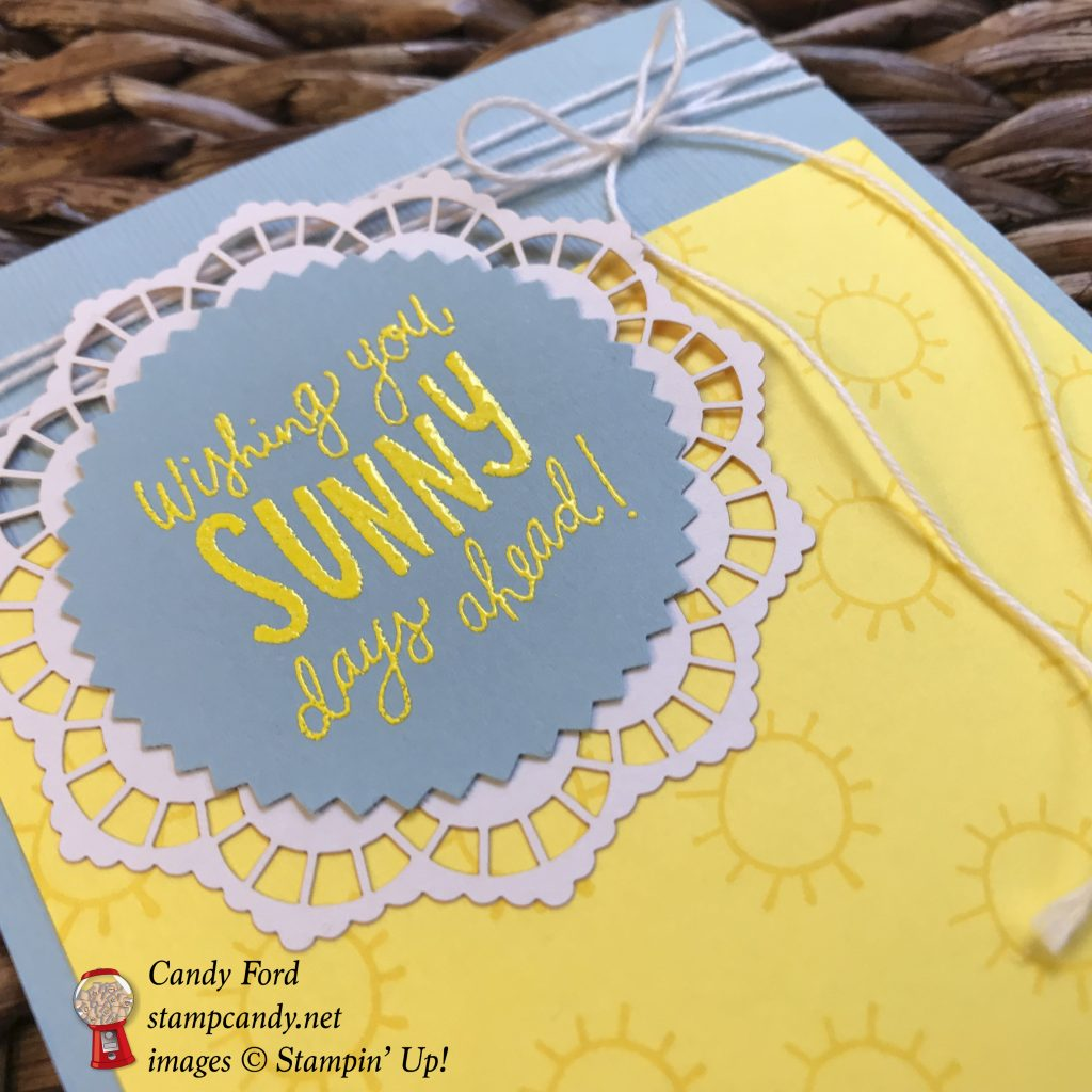 Sunny Days card for the June 2018 IRBH InKing Royalty Blog Hop #stampcandy