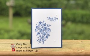 Thank You card made with the Very Vintage host stamp set, Enjoy Life stamp set, and Share What You Love Artisan Pearls by Stampin