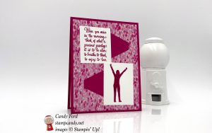 Enjoy Life card in Lovely Lipstick by Stampin