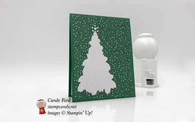 Ready for Christmas Glimmer Tree Card