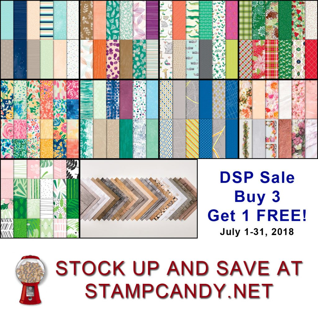 DSP Sale July 2018, Stampin' Up! #stampcandy