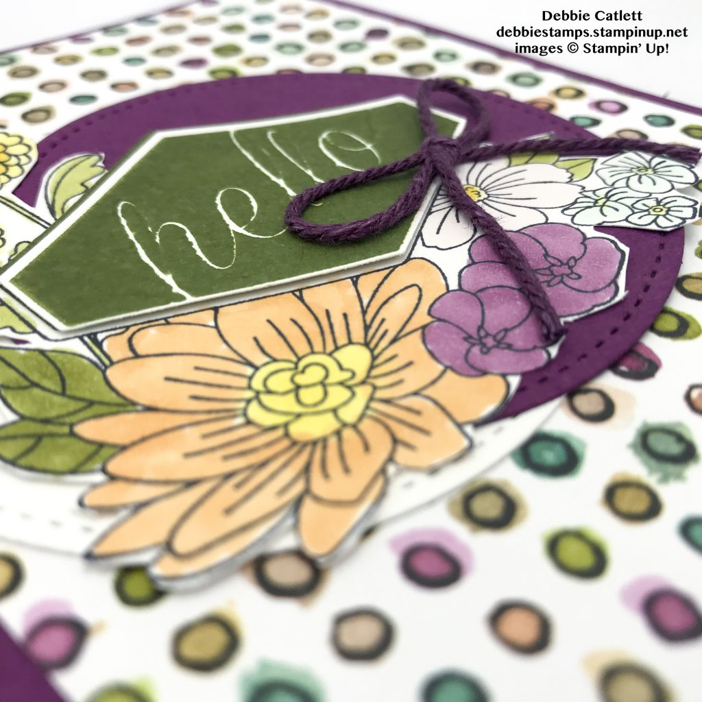 Accented Blooms card by Debbie Catlett, Stampin' Up! #stampcandy
