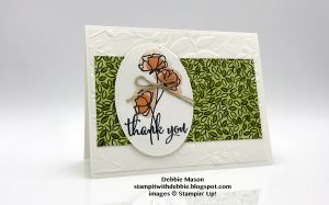 Debbie Mason, Share What You Love card, Stampin