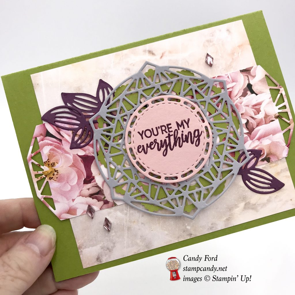 You're my everything card made using the Petal Promenade Suite by Stampin' Up! #stampcandy