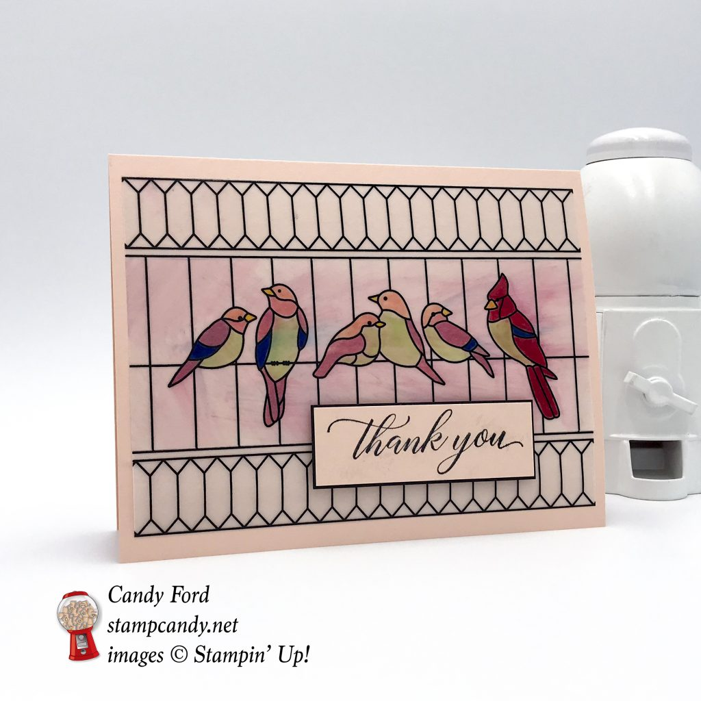 Kindness & Compassion stamp set, Graceful Glass Designer Vellum, Mini Gable Box, Stampin' Up! #stampcandy