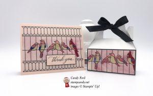 Kindness & Compassion stamp set, Graceful Glass Designer Vellum, Mini Gable Box, Stampin
