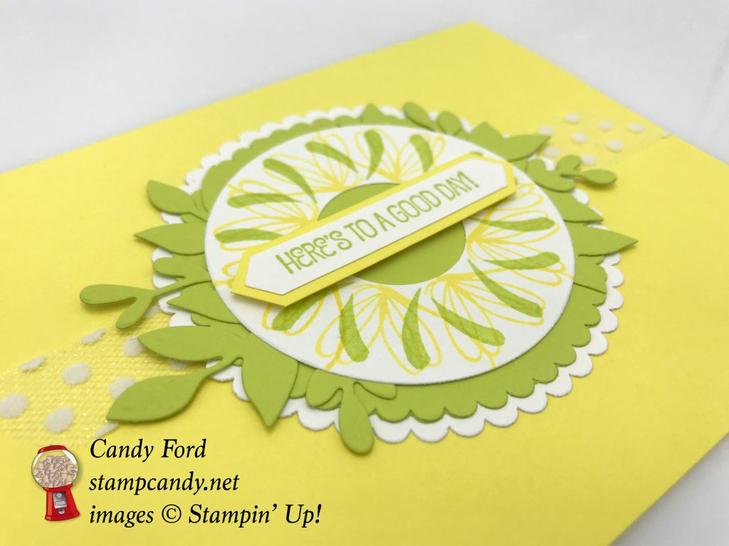 Stamparatus wreath card made with Peaceful Reflection stamp set by Stampin' Up! #stampcandy