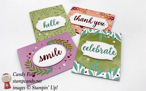Stampin Up Calligraphy Essentials Project Kit and stamp set cards by Candy Ford of Stamp Candy