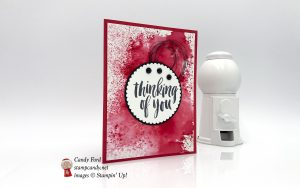 Rooted in Nature thinking of you card with Brusho. Stampin