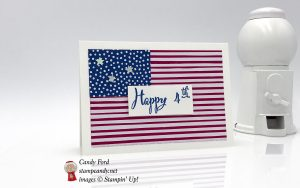 Happy 4th card made using the Make a Difference Stamp Set and new In Color DSP by Stampin