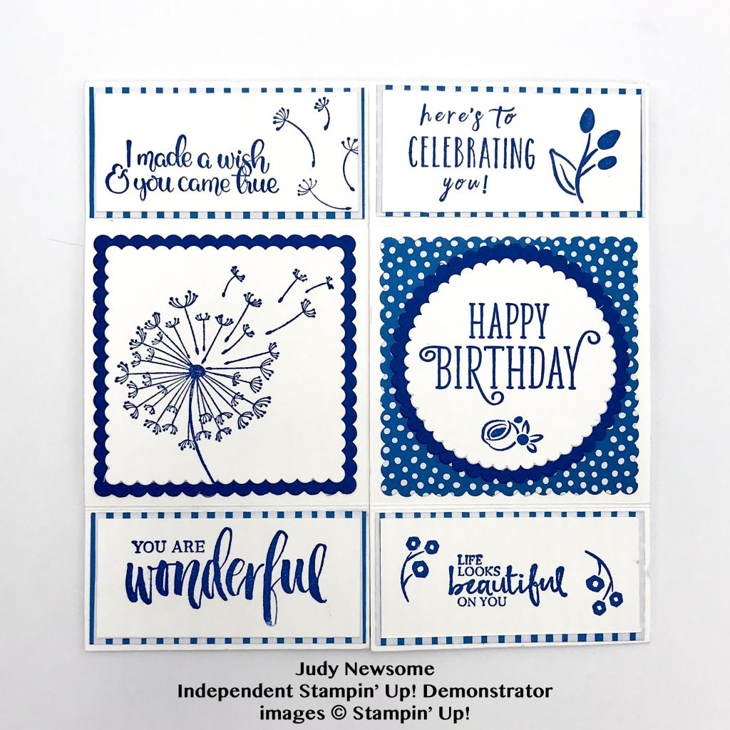 infinity card by Judy Newsome using Stampin' Up! supplies #stampcandy