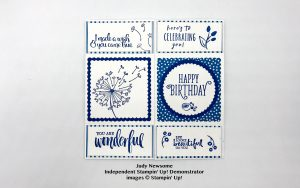 infinity card by Judy Newsome using Stampin