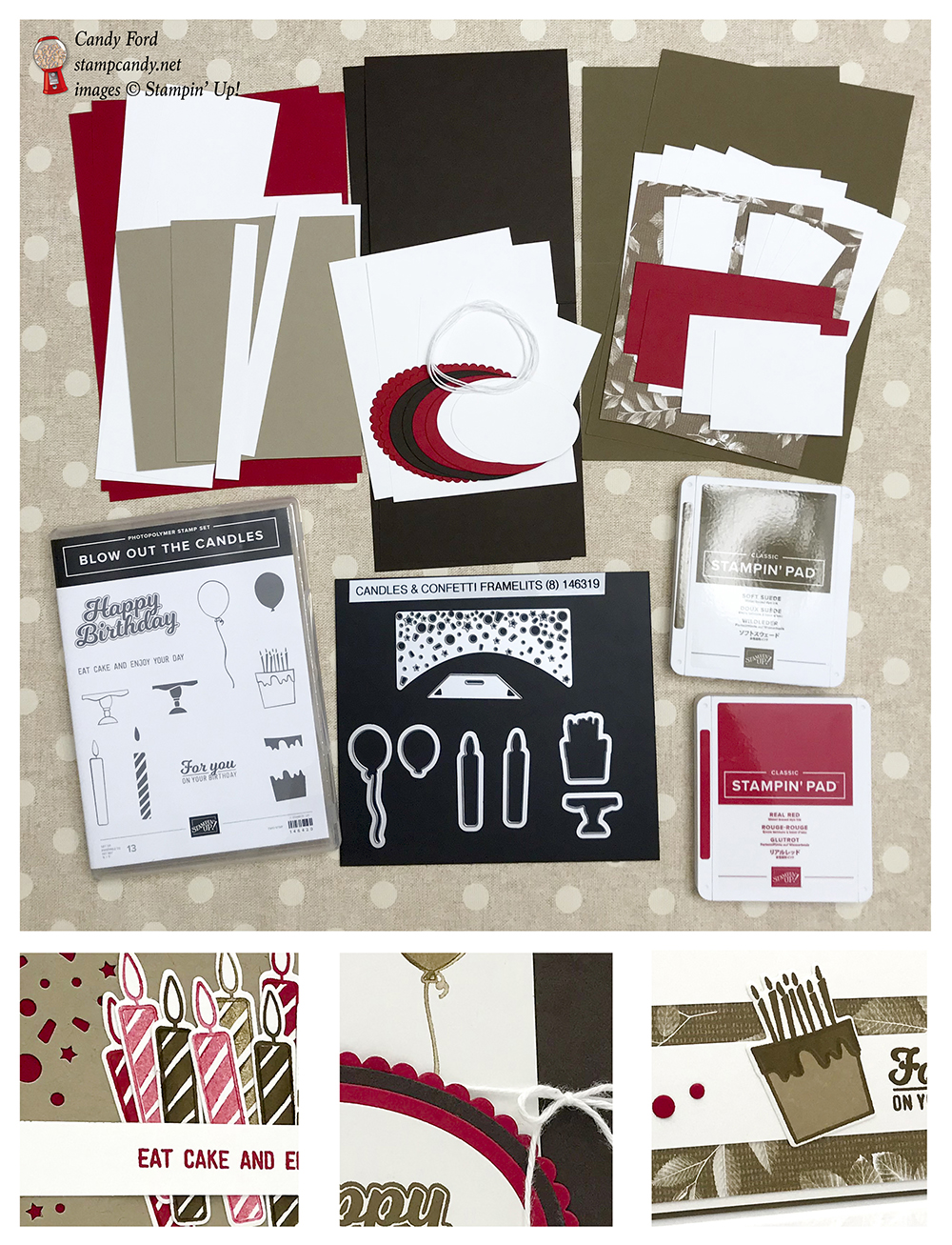 Blow Out the Candles bundle online class from #stampcandy