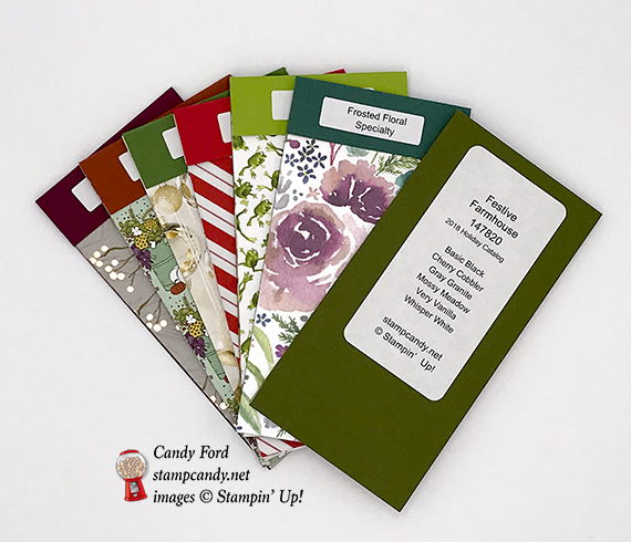 2018 Stampin' Up! Holiday Catalog Swatch Books by #stampcandy