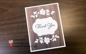 Blended Seasons Bundle thank you card with Wood Textures by Stampin