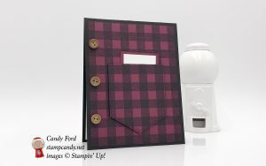 plaid shirt pocket card, Buffalo Check, Pocketful of Sunshine, Himemade Kindness stamp sets by Stampin