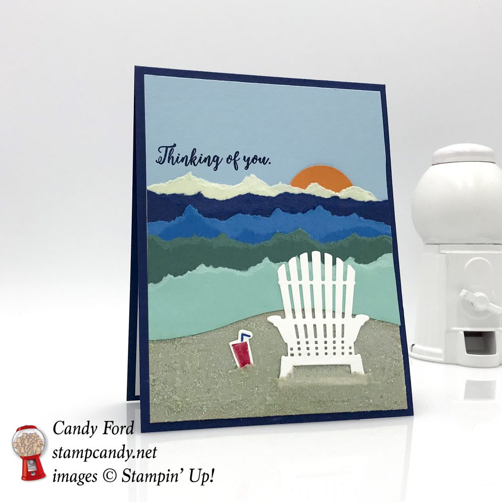Colorful Seasons stamp set & Seasonal Layers Thinlits Dies by Stampin' Up! this thinking of you by the sea card #stampcandy