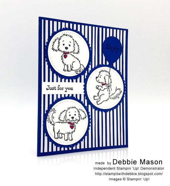 Debbie Mason Stampin' Up! Blueberry Bushel Bella & Friends handmade card
