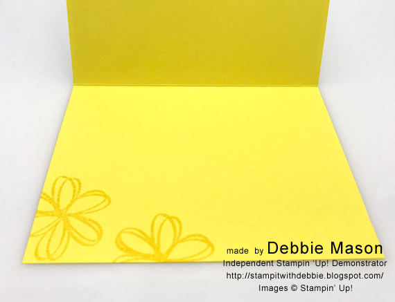 Handmade card made with Stampin' Up! Sunshine Sayings by Debbie Mason for Stamp Candy In-colors 2018-2020 Pineapple Punch #stampcandy