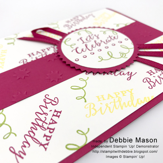 Debbie Mason Stampin' Up! Detailed with Love Birthday card