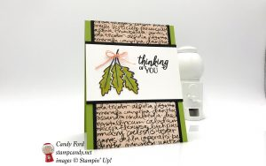 Falling for Leaves bundle thinking of you card, Stampin