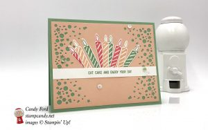 Blow Out the Candles bundle and Eat Cake birthday card, Stampin