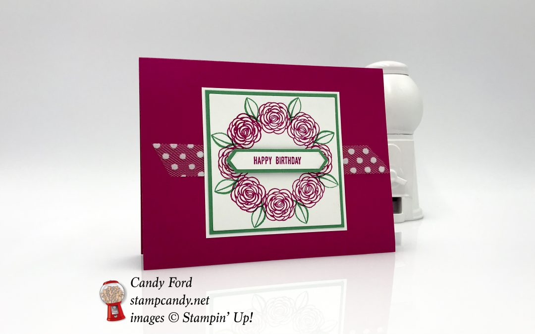 Happy Birthday Gorgeous with a Wreath Card