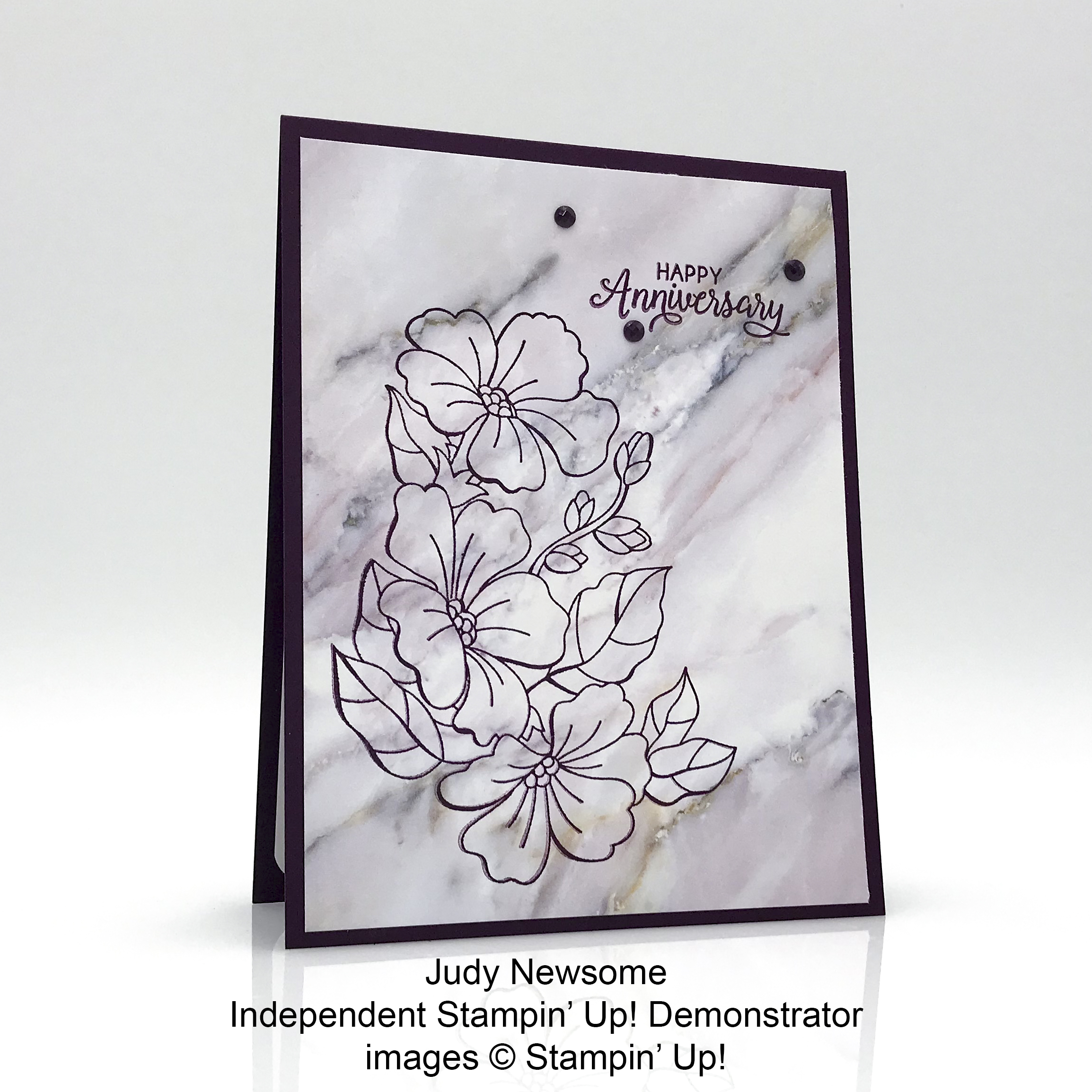 Judy Newsome August 2018 Creative Challenge birthday card
