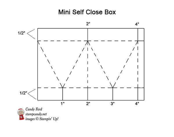 Mini Self Close Box graphic #stampcandy